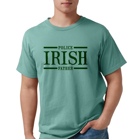 Irish Police: Irish Police Father Mens Comfort Colors® Shirt Irish