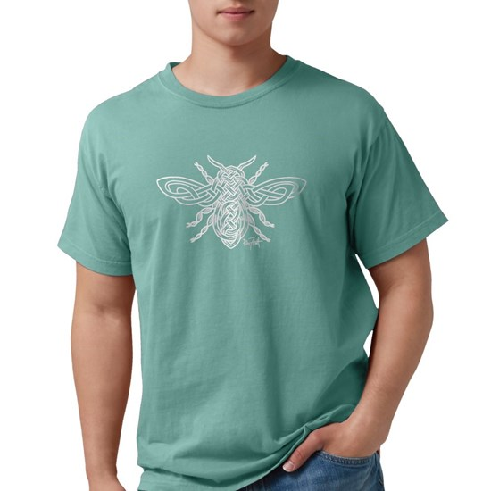 Celtic Knotwork Bee - white lines