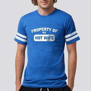 Property Of My Hot Wife Mens Football Shirt