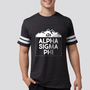 AlphaSigmaPhi Mountains Mens Football T-Shirts