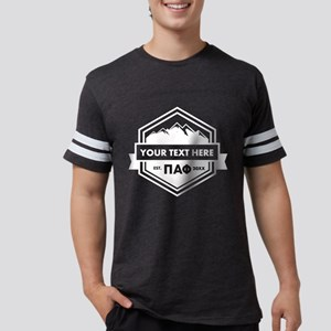 Pi Alpha Phi Mountains Ribb Mens Football T-Shirts