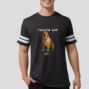 Yellow Lab Dad Mens Football Shirt