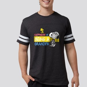 HappinessIsGrandpa Mens Football Shirt