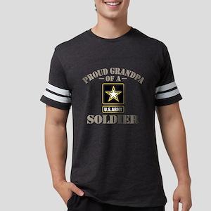 Proud U.S. Army Grandpa Mens Football Shirt