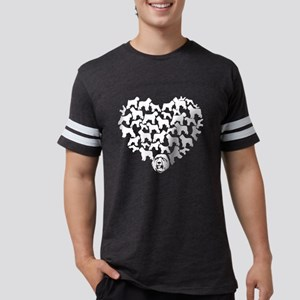 Bouvier des Flandres Heart T-s Mens Football Shirt
