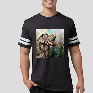 Labrador Painting Mens Football Shirt