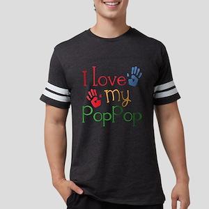 I Love My PopPop Mens Football Shirt