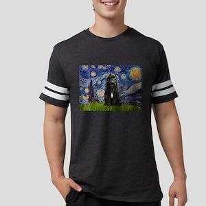 Starry Night Bouvier Ash Grey T-Shirt