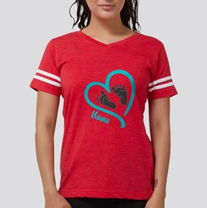 Baby Heart Blue Personalized Womens Football Shirt