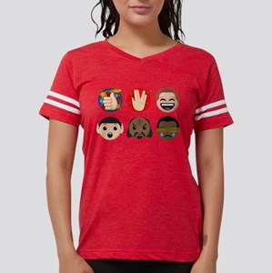Star Trek Faces and Symbols Womens Football Shirt