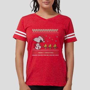 4a7cfbc9 Snoopy Ugly Christmas Green Womens Football Shirt
