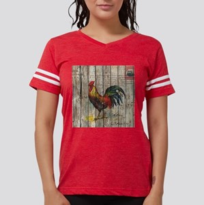 rustic farm country rooster Womens Football Shirt