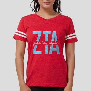 Zeta Tau Alpha Blue Polka Dot Womens Football T-Sh