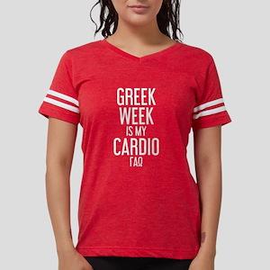Gamma Alpha Omega Greek W Womens Football T-Shirts