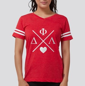 Delta Phi Lambda Cross Le Womens Football T-Shirts