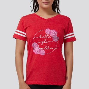 delta phi lambda floral Womens Football T-Shirts
