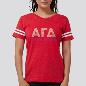 Alpha Gamma Delta Pink Yello Womens Football Shirt