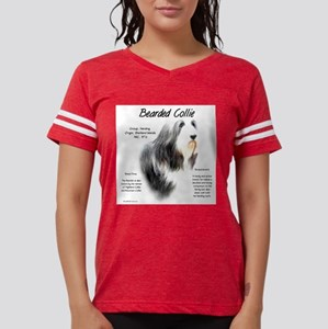 Bearded Collie Womens Football Shirt