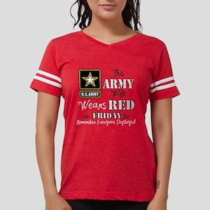 Army Wife Wears Red Womens Football Shirt