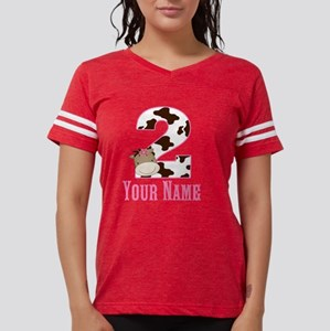 2nd Birthday Girl Horse Womens Football Shirt