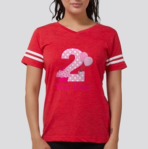 2nd Birthday Cupcake Womens Football Shirt
