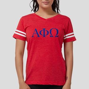 Alpha Phi Omega Letters Blue White T-Shirt