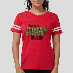 Camo Proud Army Dad Womens Football Shirt
