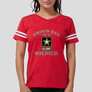 Proud U.S. Army Dad Womens Football Shirt
