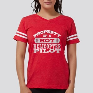 Property of a Hot Helicopter Womens Football Shirt