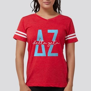 Delta Zeta Polka Dots Womens Football Shirt