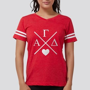 Alpha Gamma Delta Letters Womens Football T-Shirts