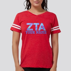 Zeta Tau Alpha Floral Womens Football Shirt