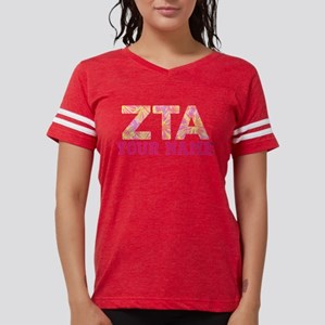 Zeta Tau Alpha Pink Yellow L Womens Football Shirt