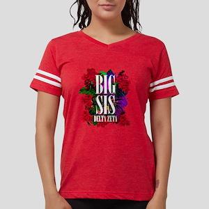Delta Zeta Big Floral Womens Football Shirt