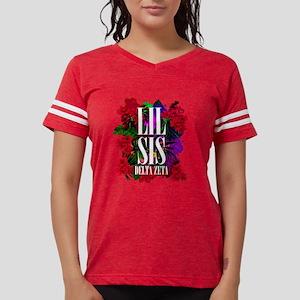 Delta Zeta Lil Sis Floral Womens Football Shirt