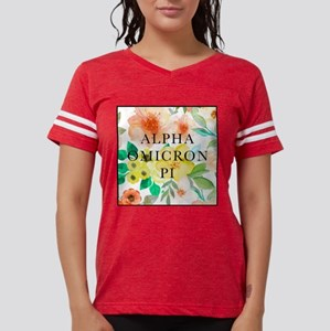 Alpha Omicron Pi Floral Womens Football Shirt