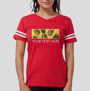 Alpha Omicron Pi Pineapples Womens Football Shirt