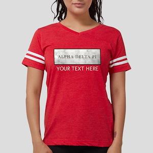 Alpha Delta Pi Marble Womens Football Shirt