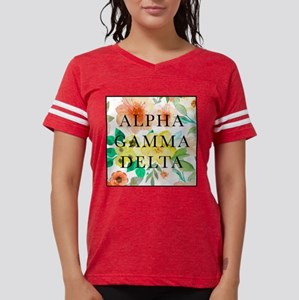 Alpha Gamma Delta Floral Womens Football Shirt