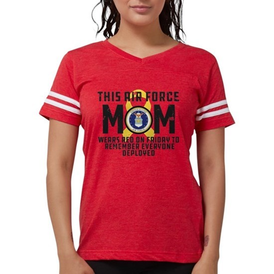 USAF Mom Wears RED