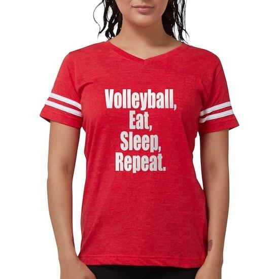 volleyball eat sleep repeat womens football shirt