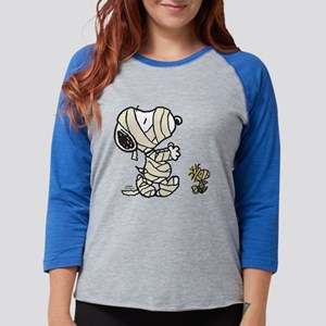 Snoopy and Woodstock - Mummies Womens Baseball Tee