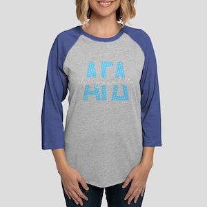 Alpha Gamma Delta Polka Do Womens Baseball T-Shirt