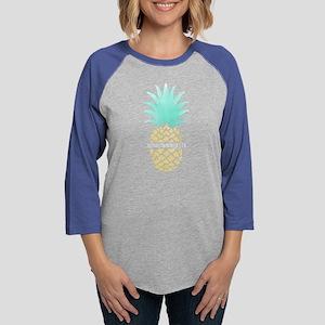 Alpha Gamma Delta Pineappl Womens Baseball T-Shirt