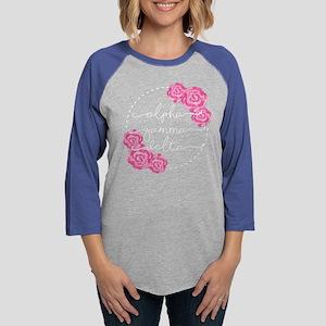 alpha gamma delta floral Womens Baseball T-Shirt