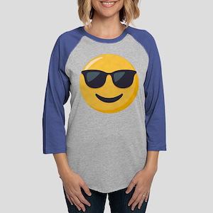 Sunglasses Emoji Womens Baseball Tee