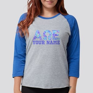 Alpha Omega Epsilon Blue Purpl Womens Baseball Tee