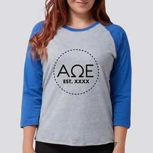Alpha Omega Epsilon Circle Per Womens Baseball Tee