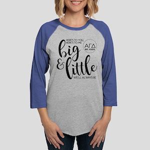 Alpha Gamma Delta Big Little P Womens Baseball Tee