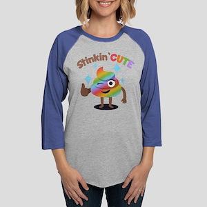 Emoji Rainbow Poop Stinkin' Cu Womens Baseball Tee